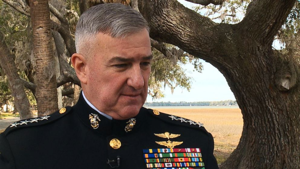 Gen. Glenn Walters, Assistant Commandant of the Marine Corps speaks with ABC News at at Marine Corps Recruit Depot Parris Island in South Carolina, Feb. 2, 2018.