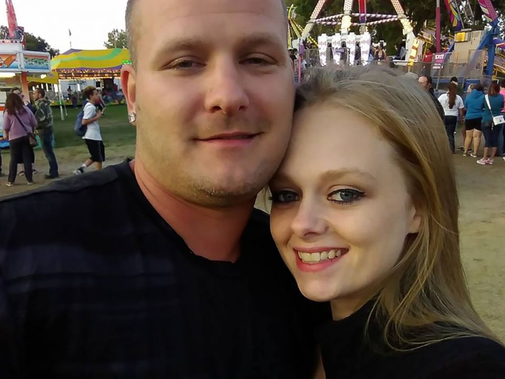 PHOTO: Ken White and his fiancee Aimee Cagle are pictured in an undated handout photo. White was killed when he was hit by a rock thrown from an overpass on Oct. 20, 2017, in Vienna Township, Mich.