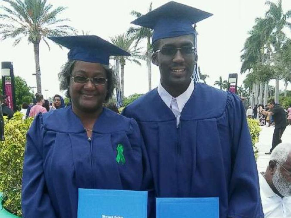 PHOTO: Patricia Love Davis and her son, Kenneth McCray, both graduated from South Floridas Broward College. He earned a computer science degree; she, an associates in criminal justice.