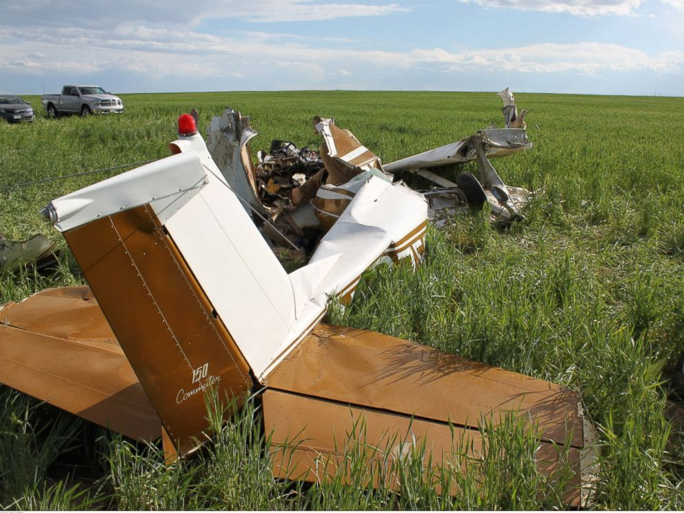 PHOTO: The NTSB has released information about this May 2014 crash near an airport in Watkins, CO and they mentioned how the pilot was taking selfies throughout the flight.