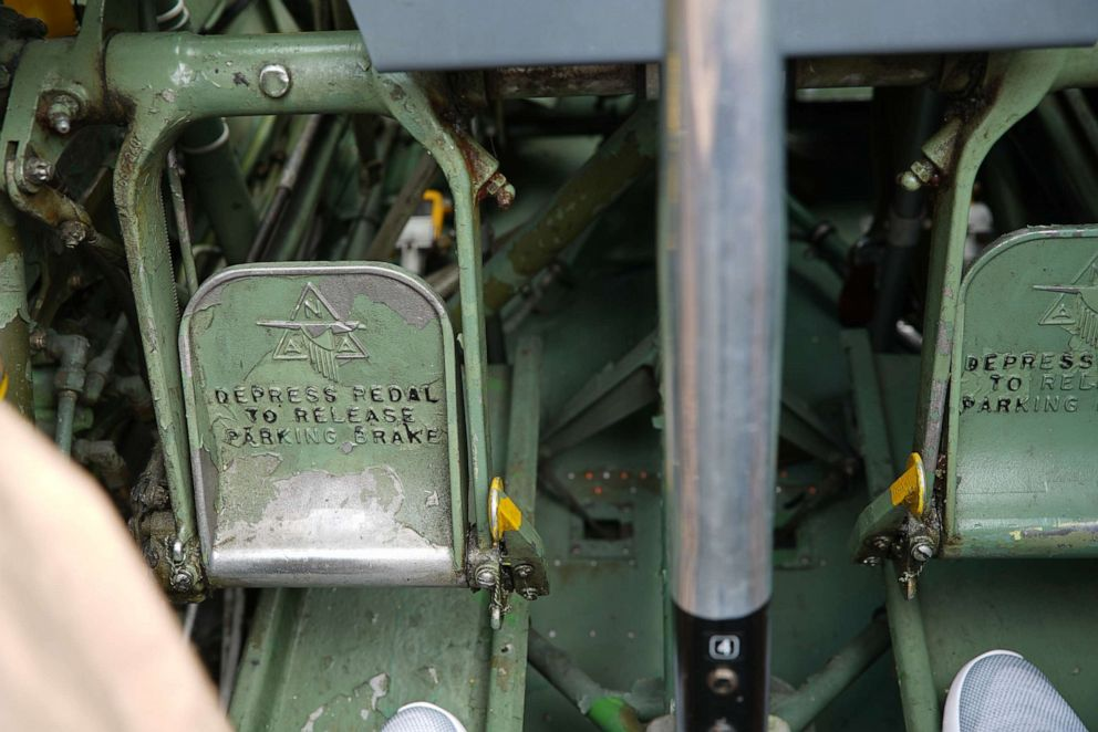 PHOTO: These rudder pedals are used to steer the T-6 Texan plane.
