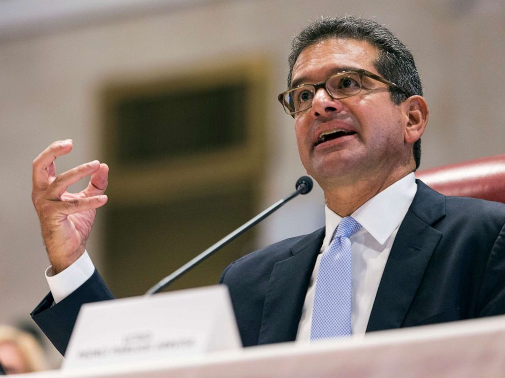 PHOTO: Proposed Secretary of State Pedro Pierluisi speaks during his confirmation hearing at the House of Representatives, in San Juan, Puerto Rico, Aug. 2, 2019.