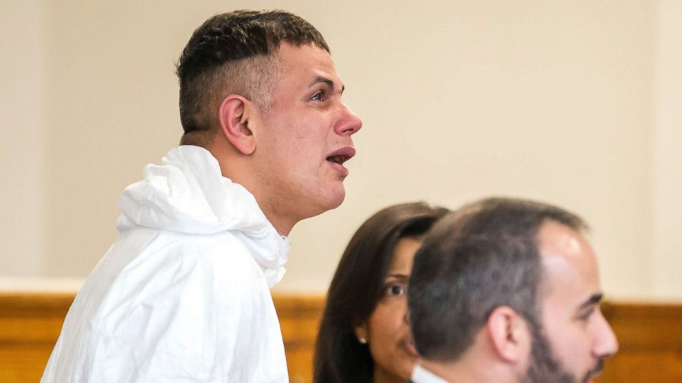 Victor Pena, left, is arraigned on kidnapping charges at the Charlestown Division of the Boston Municipal Court in Charlestown, Mass., Jan. 23, 2019. Pena, who has been charged with kidnapping a 23-year-old woman in Boston has been ordered to undergo a mental health evaluation and will be held without bail.