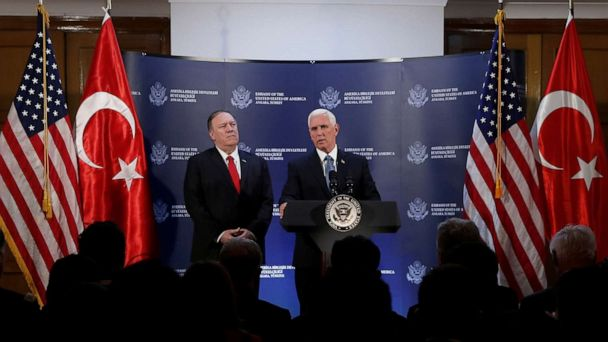 US, Turkey reach agreement on Syria, but differ over whether it's a ceasefire or pause in operations