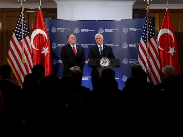 'Not a ceasefire': Turkish leader says it's a 'pause' after Pence touts agreement