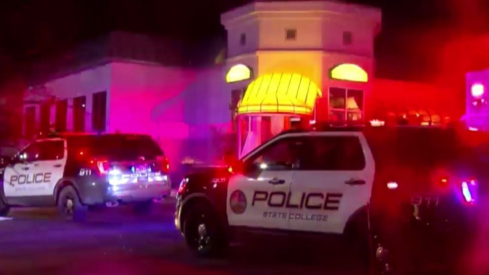 State College police respond to a shooting outside PJ Harrigan's Bar & Grill in State College, Pa., on Thursday, Jan. 24, 2019.