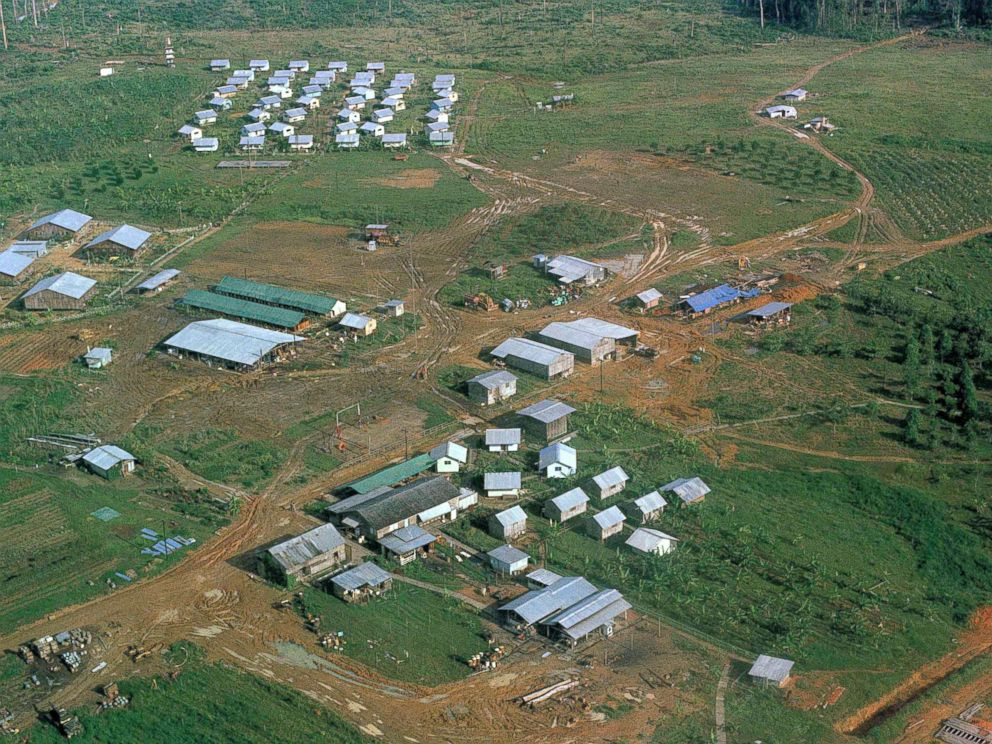 PHOTO: The Peoples Temple compound in Jonestown, Guyana, is seen in this aerial image from 1978.