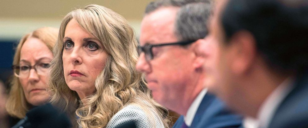 PHOTO: President and CEO of USA Gymnastics Kerry Perry testifies before the House Energy and Commerce Oversight and Investigations Subcommittee in Washington, D.C., May 23, 2018.