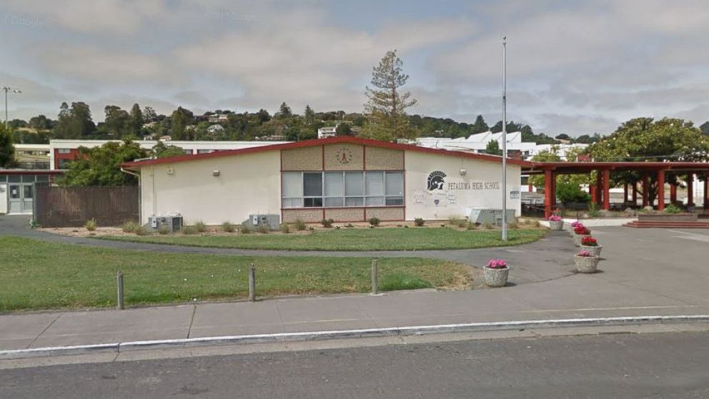 Petaluma High School at 198 Fair Street in Petaluma, Calif. as seen from Google Street View in May 2017.