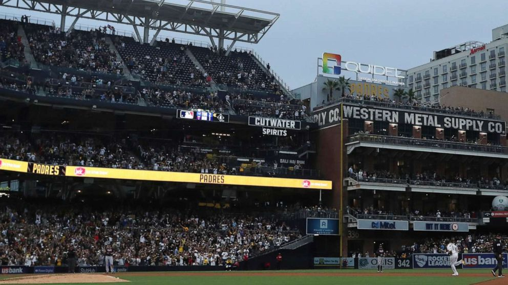 Police investigate 'suspicious' death of mother and child at Padres stadium in San Diego