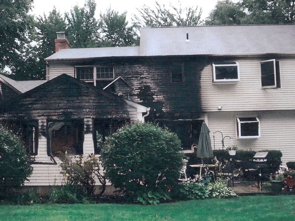 PHOTO: This July 2007 police photo provided by the Connecticut Judicial Branch as evidence and presented in the Joshua Komisarjevsky trial shows a fire-damaged portion of the William Petit home in Cheshire, Conn.