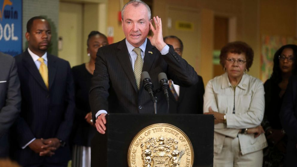 N.J. Governor Phil Murphy during a press conference as he talks about the budget impasse, June 28, 2018, in Trenton, N.J.