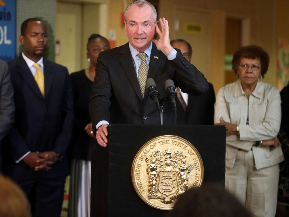 PHOTO: N.J. Governor Phil Murphy during a press conference as he talks about the budget impasse, June 28, 2018, in Trenton, N.J.