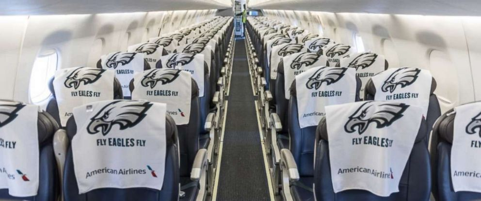 PHOTO: An American Airlines flight is ready for Eagles fans going to the Super Bowl.