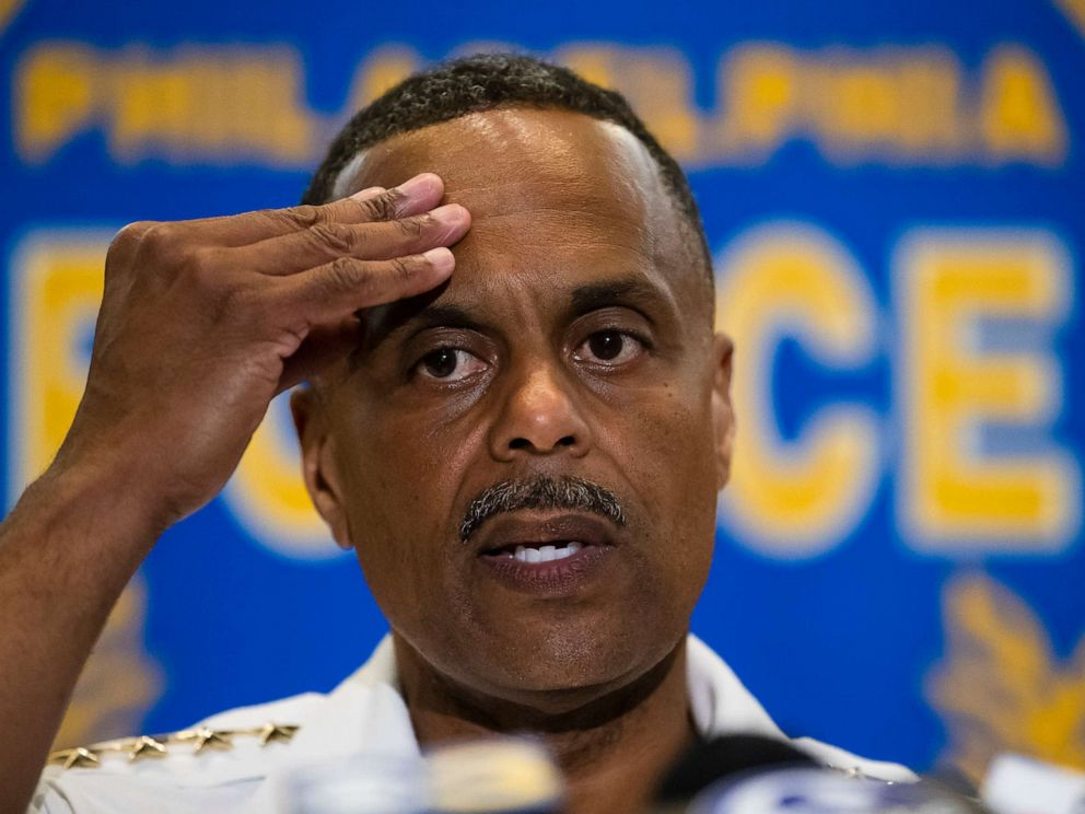 PHOTO: Philadelphia Police Commissioner Richard Ross listens to a question during a news conference in Philadelphia, June 19, 2019.