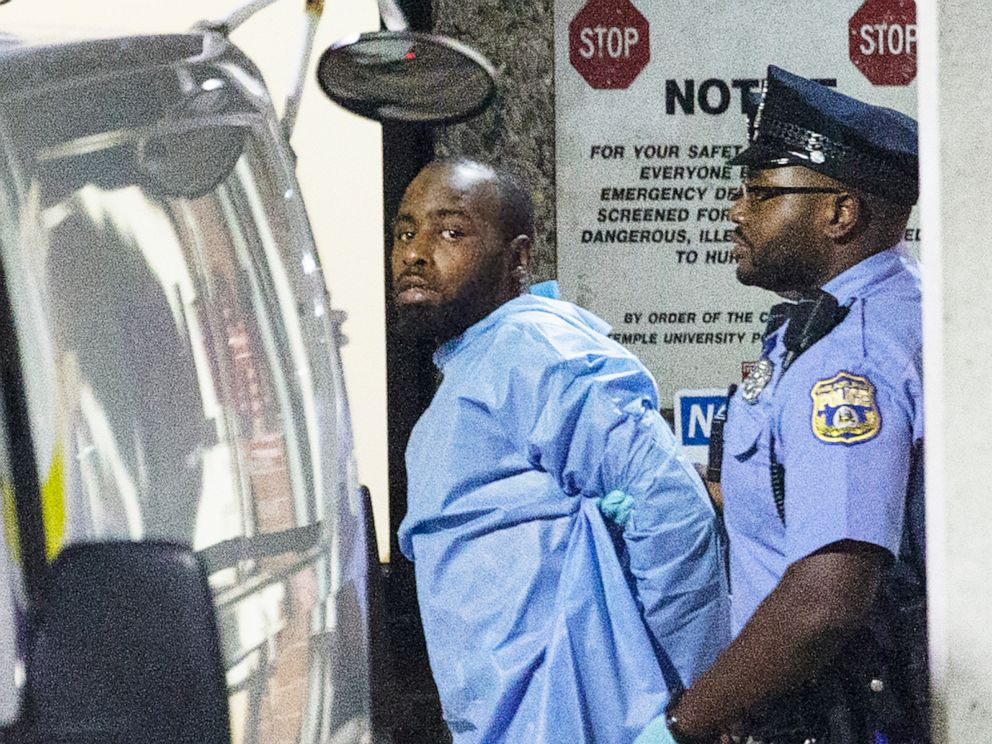 PHOTO: Police take shooting suspect, Maurice Hill, into custody after a standoff on Aug. 14, 2019 with police, that wounded several police officers, in Philadelphia.