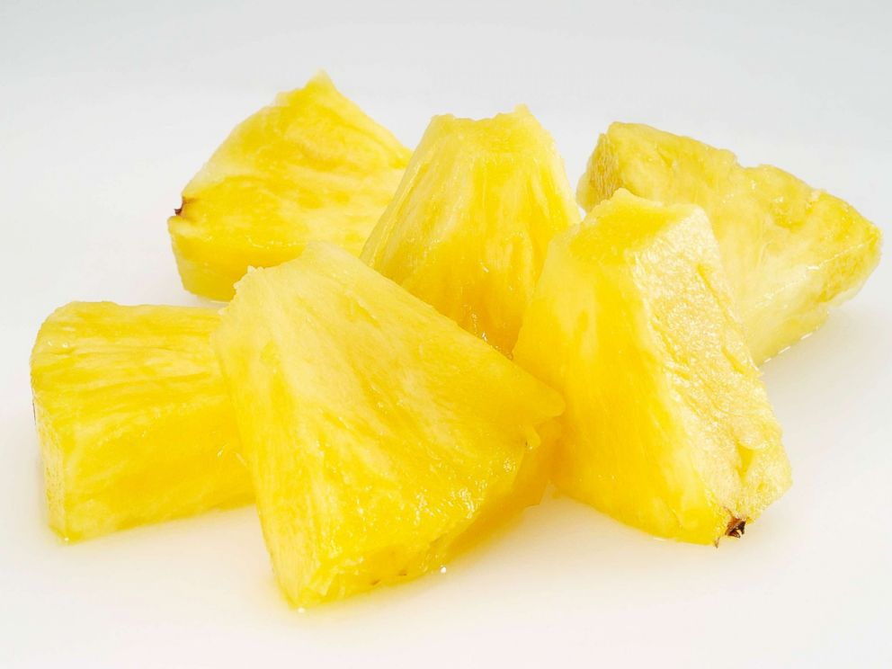 PHOTO: Pineapple chunks are seen here.
