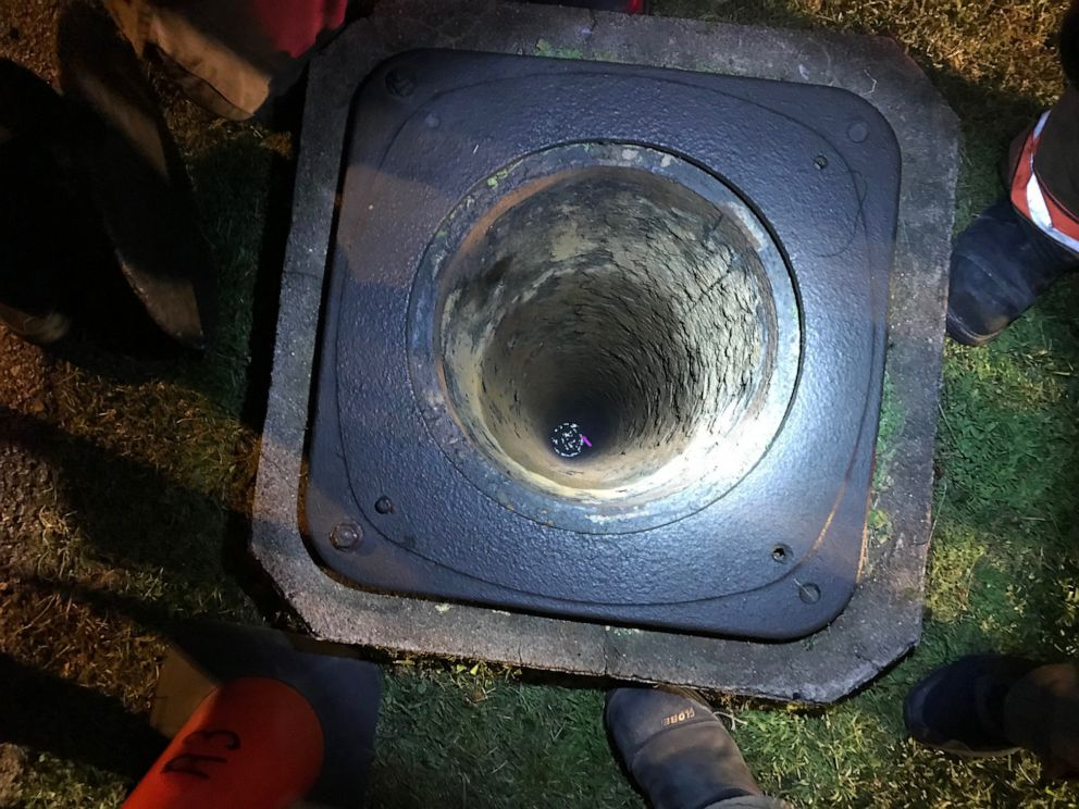 PHOTO: Evansville firefighters responded to find a boy in a 16-inch diameter pipe, July 4, 2019.