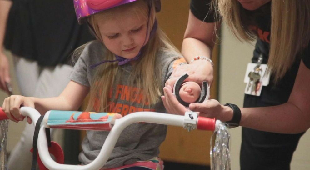 PHOTO: The 4-year-old rode a bike for the first time on Wednesday.