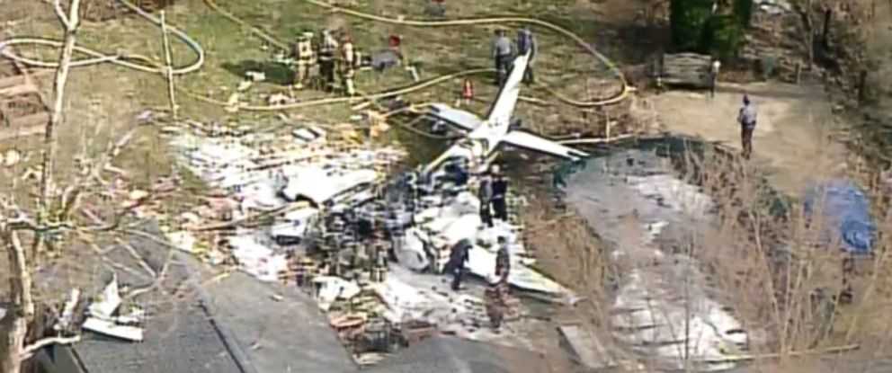 PHOTO: The pilot of a plane that crashed into a Madeira, Ohio home was killed, March 12, 2019.