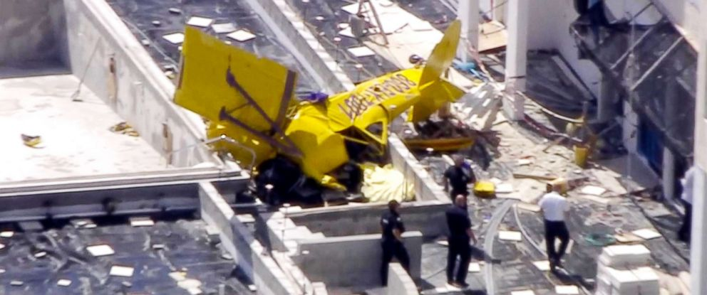 PHOTO: A plane crashed into a building in Fort Lauderdale, Fla., March, 01, 2019.