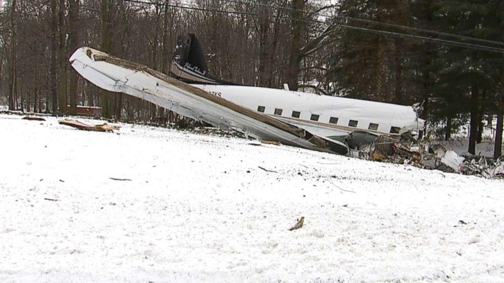 The scene of a small plane crash near Kidron, Ohio.