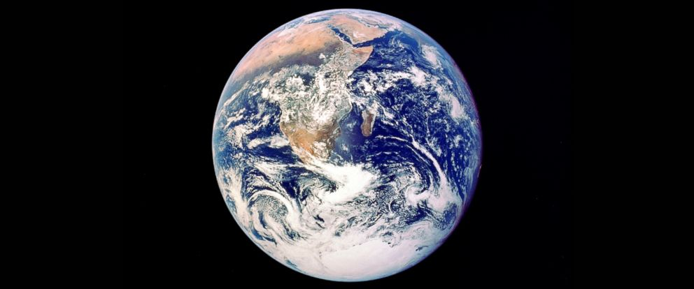 PHOTO: The Earth is viewed from Apollo 17, December 1972.