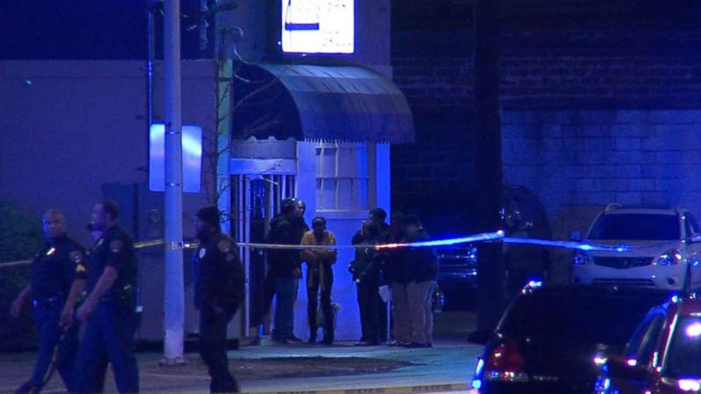 Two police officers were shot in Birmingham, Ala., Jan. 13, 2019.