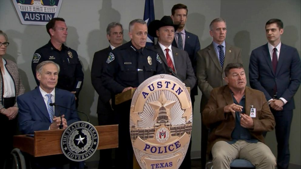 Authorities in Austin, Texas detail the 25-minute recording the suspect in the series of package explosions left on his phone, March 21, 2018.