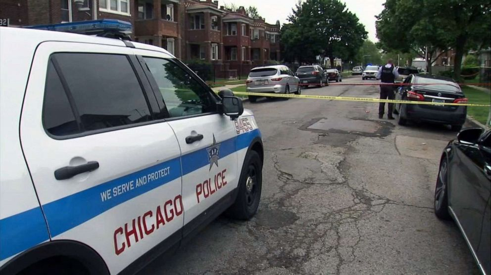 PHOTO: A 24-year-old woman was shot dead while holding a 1-year-old in Chicago, May 28, 2019.