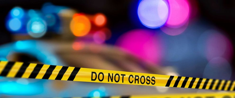 PHOTO: Police crime scene tape on a city street is pictured in this undated stock photo.
