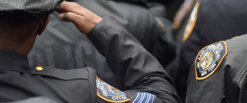 PHOTO: Police officers attend a funeral in this stock photo.