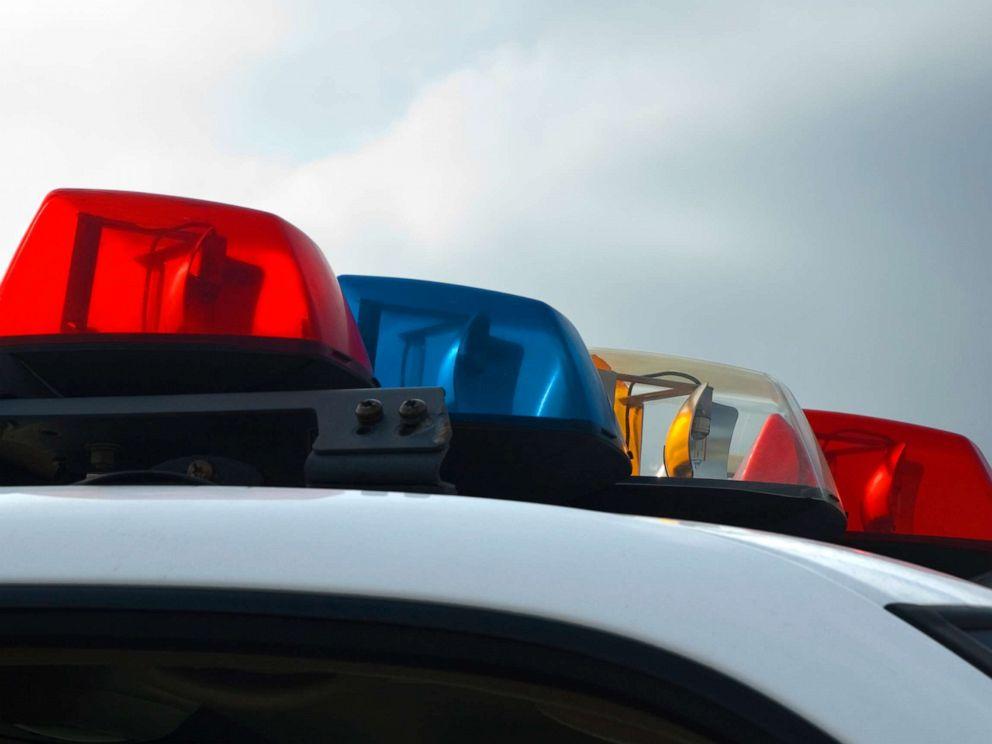 PHOTO: Police lights on a police cruiser.