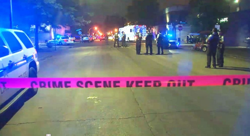 PHOTO: Crime scene tape is pictured as law enforcement responds to the scene of the police-involved shooting.