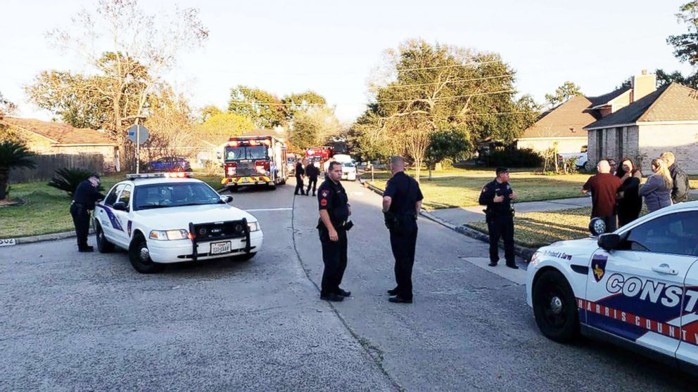 Police respond to the scene of an apparent self-inflicted gunshot injury in Texas.