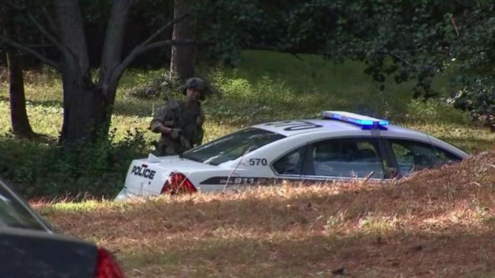 A massive manhunt is underway in Georgia, on Oct. 20, 2018, for the suspects involved with the shooting and killing of Officer Antwan Toney.