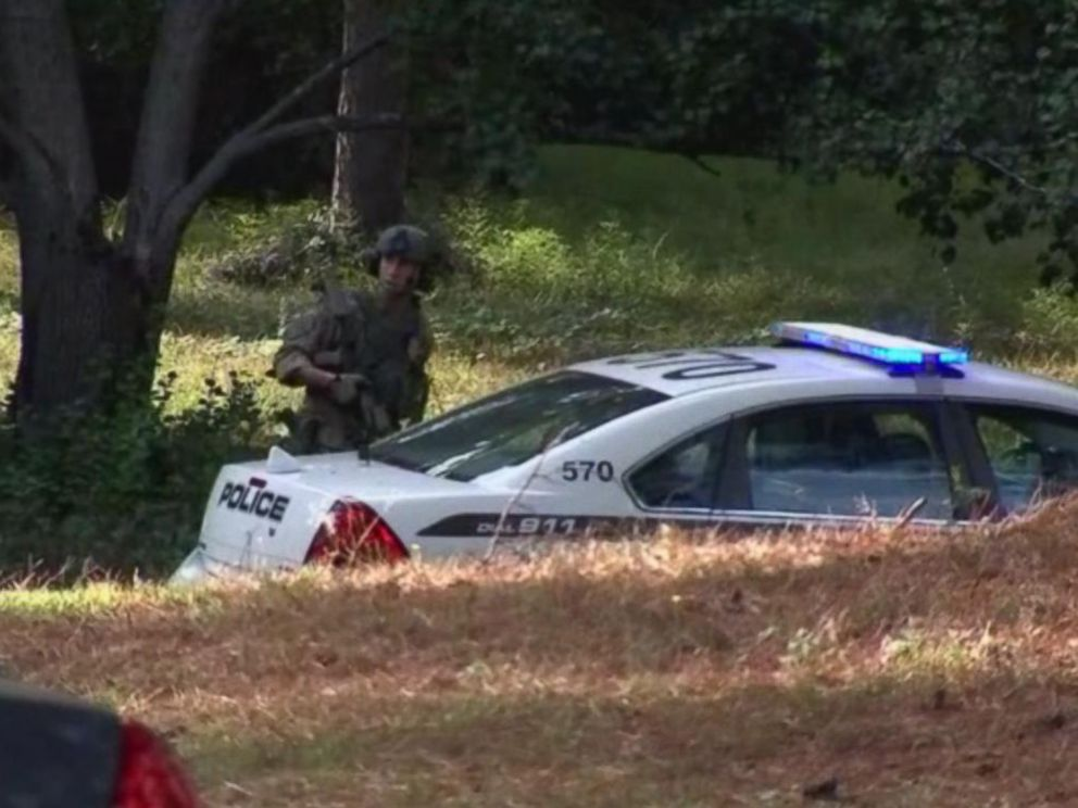 PHOTO: A massive manhunt is underway in Georgia, on Oct. 20, 2018, for the suspects involved with the shooting and killing of Officer Antwan Toney.
