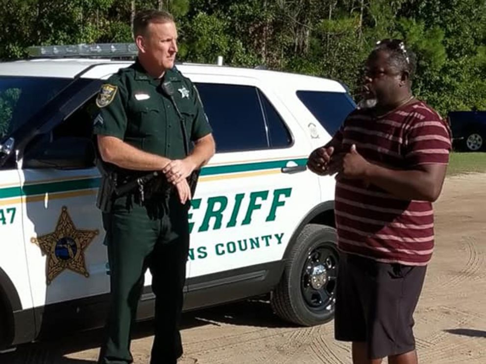 PHOTO: An African American father had sheriff's deputies called on him at a youth soccer game in Ponte Vedra, Fla., after he instructed his son from the sidelines not to argue with the referee over a call, videos and witnesses, Oct. 13, 2018.