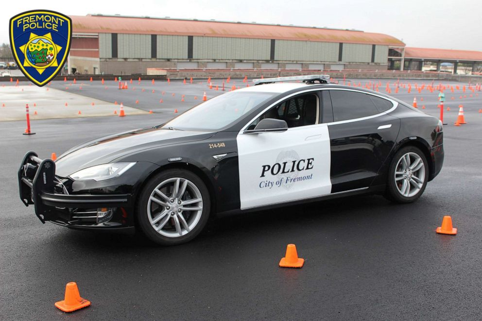PHOTO: Fremont Police Department in California just completed a six-month pilot program using a Tesla Model S as a patrol car. It took more than a year for the car to be modified to the citys standards.