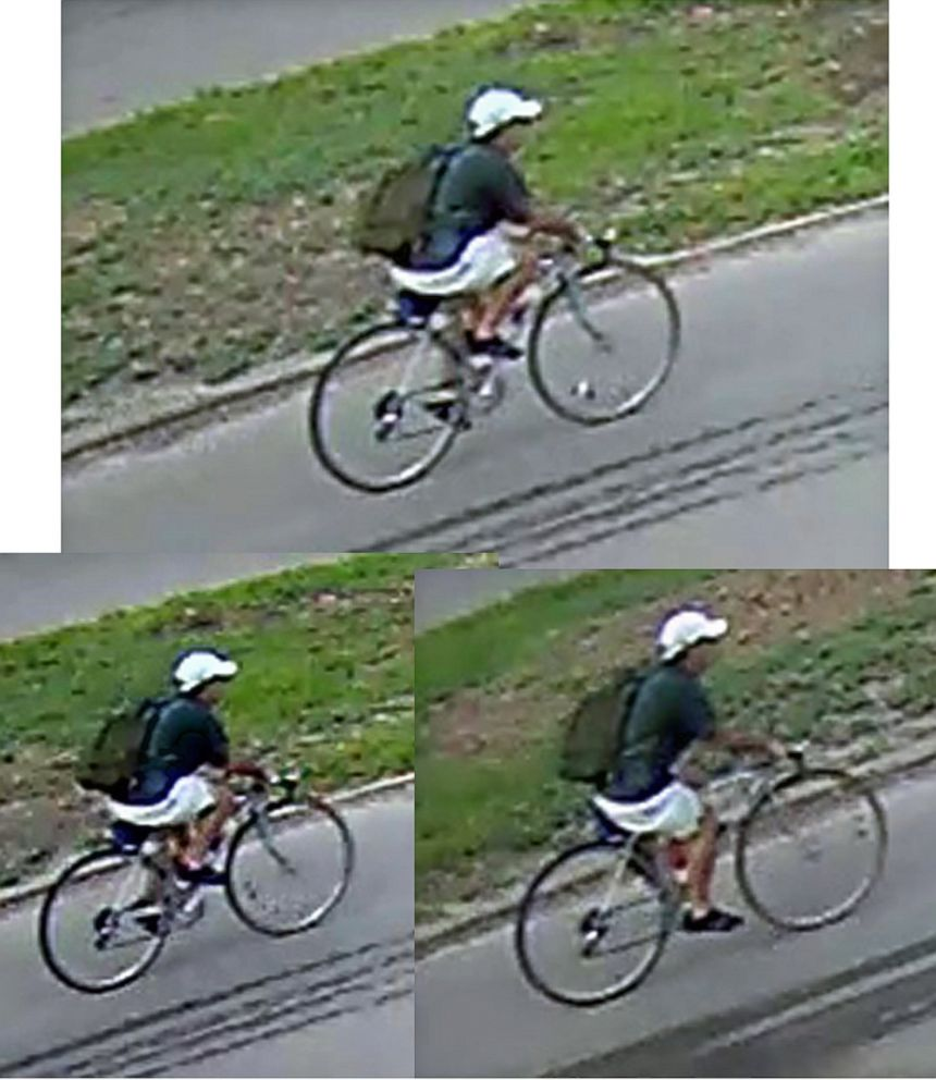 PHOTO: Still pictures of the shooting suspect taken from the surveillance video released by Houston Police on July 30, 2018.