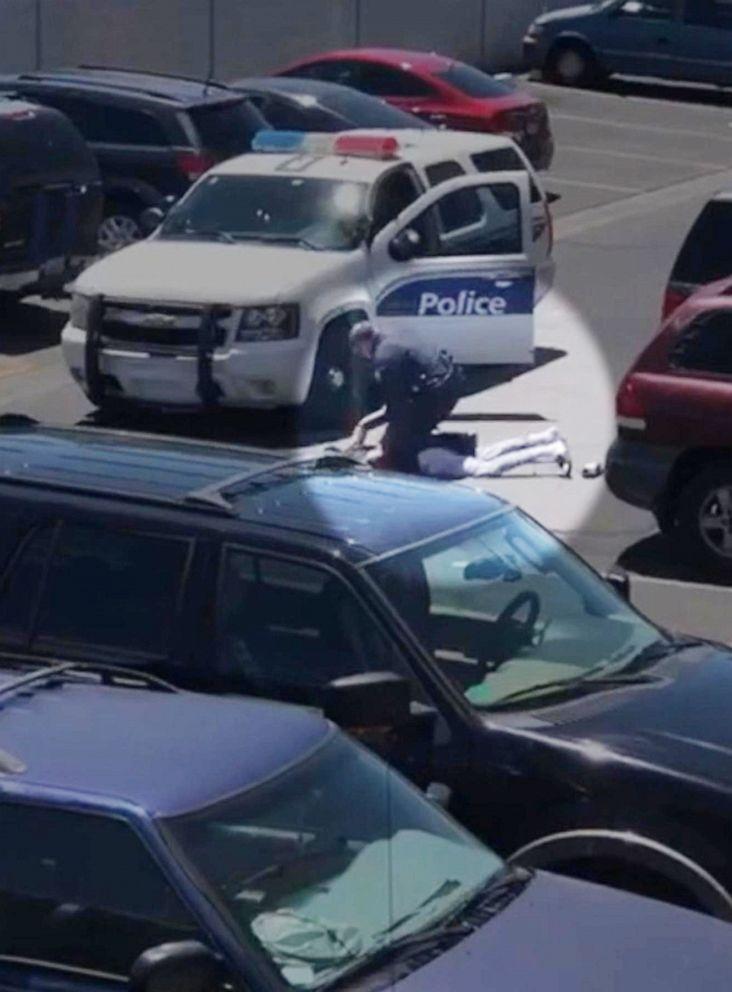 PHOTO: Mobilephone video Released by police   Takings two   into Custody in Pheonix, JUNE 11, 2019.