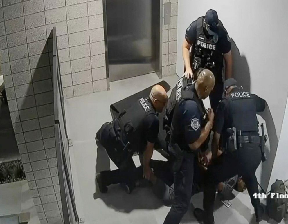 PHOTO: Four Arizona police officers are on paid administrative leave after a May 2018 incident where they allegedly punched a suspect several times.