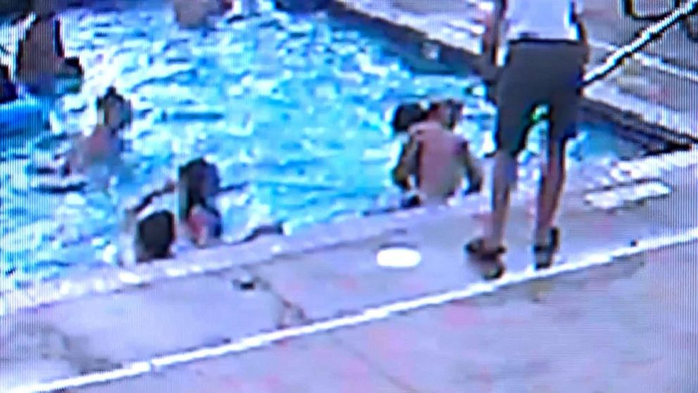 PHOTO: A woman saved a child from drowning at a pool in Minnesota.