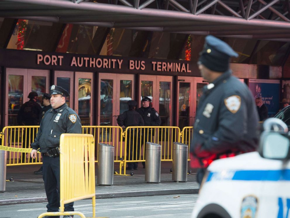 PHOTO: Police respond to a reported explosion at the Port Authority Bus Terminal, Dec. 11, 2017, in New York City.