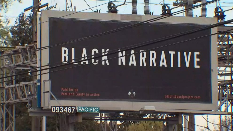 PHOTO: An activist group called Portland Equity in Action has been erecting billboards in Portland, Ore., in order to, confront and disrupt the rampant complacency in this city regarding issues of white supremacy and racial inequity.