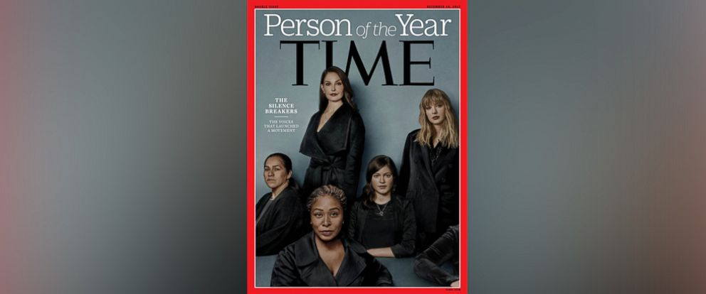 PHOTO: Time Magazine names The Silence Breakers as The Person of the Year, 2017.