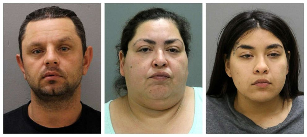 PHOTO: From left, Pioter Bobak, 40; Clarisa Figueroa, 46; and Desiree Figueroa, 24.