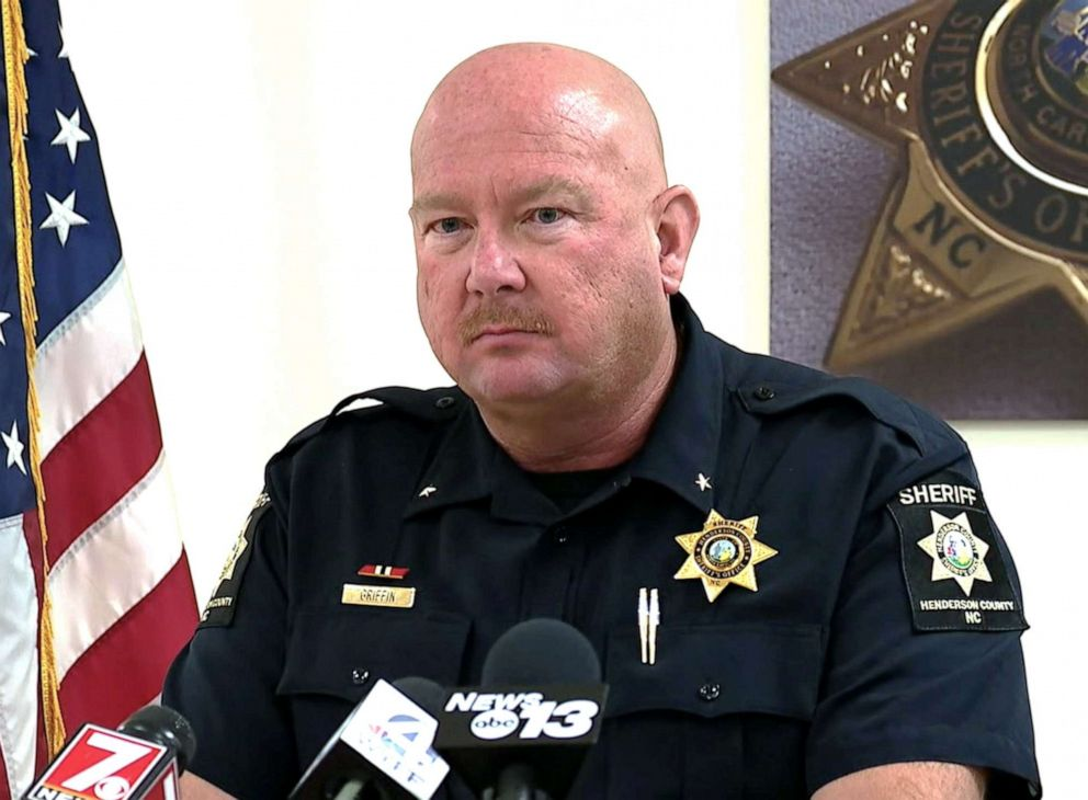 PHOTO: Henderson County Sheriff Lowell Griffin addresses the media on May, 10, 2019.