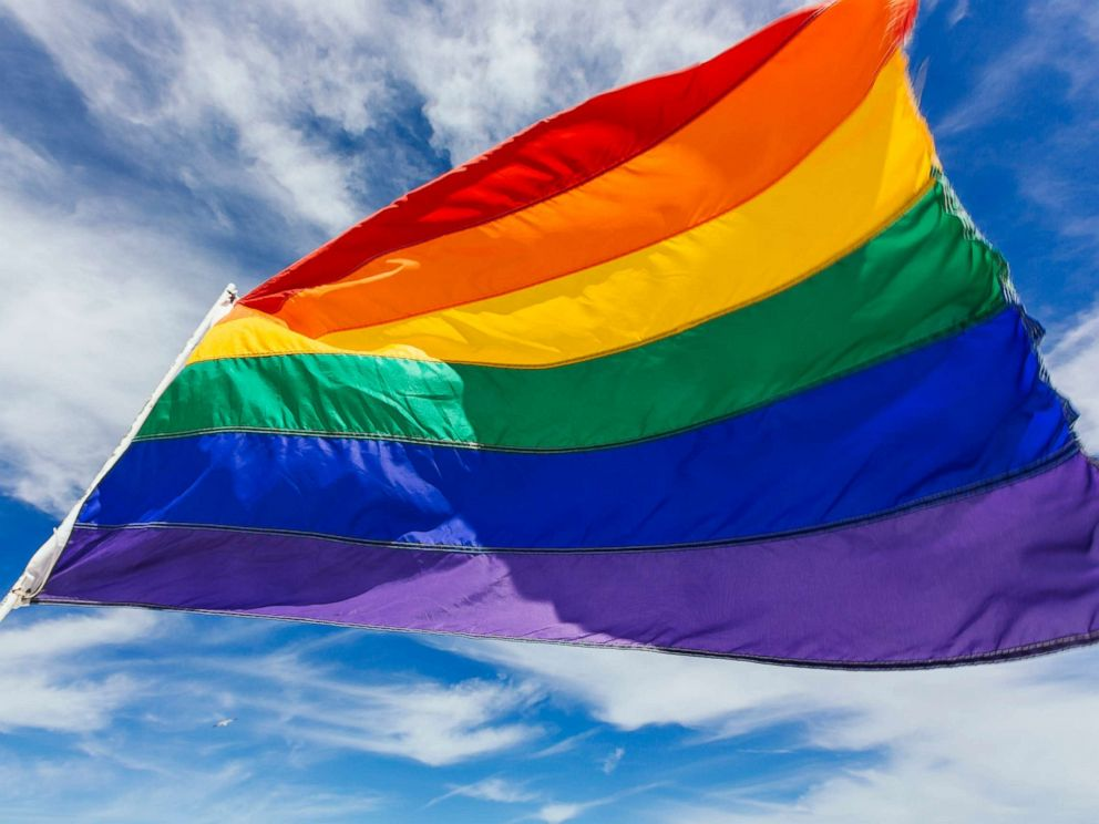PHOTO: A rainbow flag representing gay pride is pictured here.