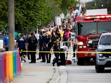 1 dead after people hit by truck at gay pride march